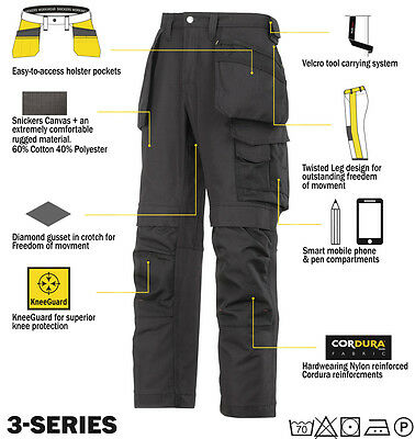 Snickers 3214 Trousers Canvas Holster Work Trousers Snickers Direct All Colours