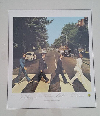 RARE Beatles Abbey Road Lithograph Autograph Print 1993 by Apple #6664/9800!