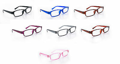 Slim Reading Lightweight Glasses form +0.5 to +3.50 Unisex UV Reader Spring Geek