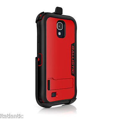 Ballistic Every1 Series Case with Kickstand Belt Clip for Samsung Galaxy S4 Red