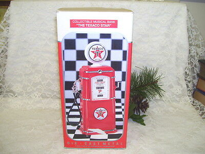 Texaco Gas Pump Musical Bank Plays Texaco Star Theme Enesco 1997 Nib