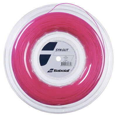 Babolat Synthetic Gut 1.30mm/16G Pink Tennis String 200m - Free UK P&P