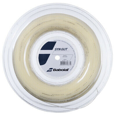 Babolat Synthetic Gut 1.30mm - 16 - Natural - Tennis String 200m reel