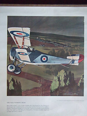 1959 Leach Corp Litho WWI The Man Without Fear In The Silver Nieuport 17