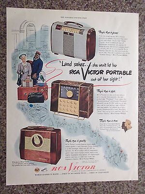 1949 RCA Victor Portable Radio Advertisement