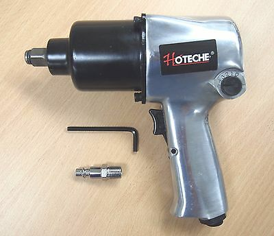"""1/2"""" Twin Hammer Heavy Duty Air Impact Wrench Max Torque 750ft/lb"""