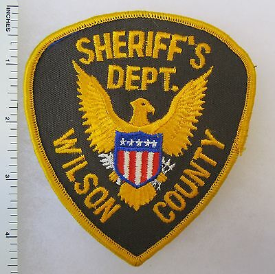WILSON COUNTY TENNESSEE SHERIFF'S DEPARTMENT - ORIGINAL Vintage SHOULDER PATCH