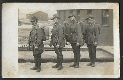 Vintage Postcard - WWI Four Australian Brothers In Arms - Free Postage