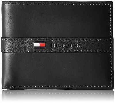 Genuine Leather TOMMY HILFIGER Mens Black Ranger Wallet & Gift Box FAST POST