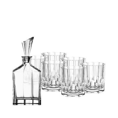 Whisky Wine Glass Decanter Carafe Bottle 750mL with 6 Glasses 324mL Gift Box Set