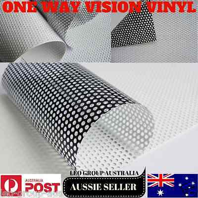 White One Way Vision Printable Vinyl Film Tint Car Bus Vehicle Window Windscreen