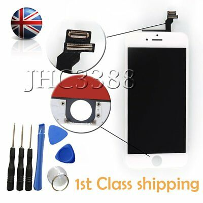 New Touch Digitizer + LCD Display Glass Screen Assembly For iPhone 6 4.7'' White