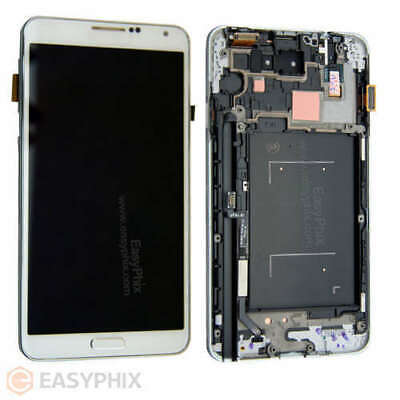 LCD Digitizer Touch Screen Assembly +Frame for Samsung Galaxy Note 3 N9005 White