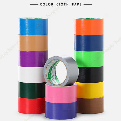 50mm*10M Colorful Waterproof Cloth Carpet Pasting Pipe Bundle Wedding Duct Tape