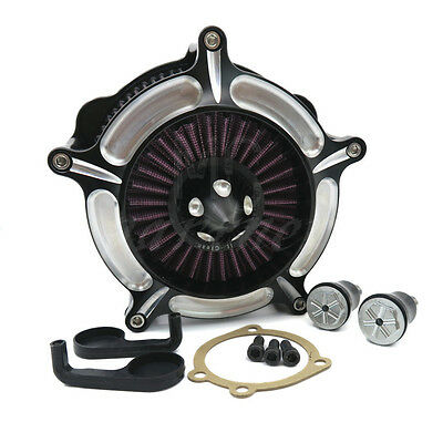 Black CNC contrast-cut RSD Air Cleaner For Harley Sportster 883 XLH1200 04~14