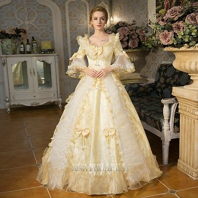 18th Rococo Cosplay Renaissance Queen Prom Dresses Ball Gown Antoinette Costume