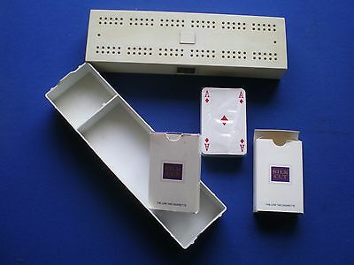 Silk Cut Playing Cards  and Cribbage Board  - 1970s