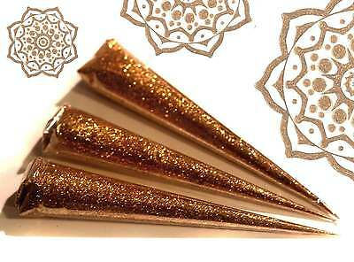 3 x  GOLD GLITTER GEL, LRG PROFESSIONAL QUALITY, Henna Gilding and Body Art Jx3