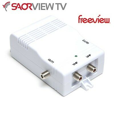 Antiference 2 Way TV Distribution Amplifier Saorview Freeview UPC NTL Virgin HD