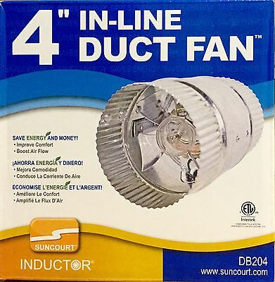 "Suncourt Inductor 4"" In-Line Duct Fan"