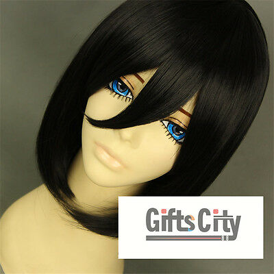 New Attack on Titan Shingeki no Kyojin Mikasa Ackerman Party Wig Cosplay Wigs