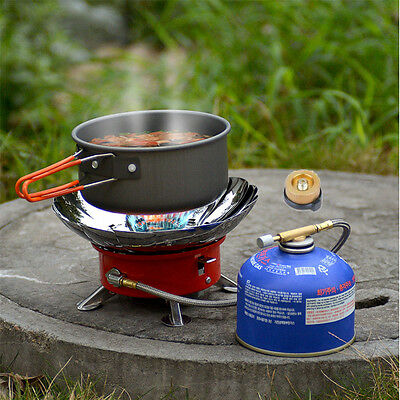 Folding Mini Stove Portable Burner Butane Gas Cooker Camping Outdoor Windproof