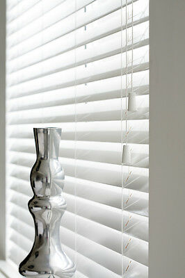 Wooden Venetian Blinds, High Gloss White