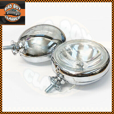 "5"" Pair Polished Chrome Halogen Spotlamps"