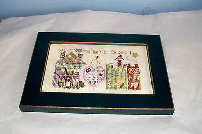 Shepherds Bush Completed Cross Stitch Picture Home Sweet Home Framed