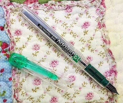 free ship clear GREEN Platinum Preppy Fountain Pen 0.3 F PPQ-200 GREEN ink