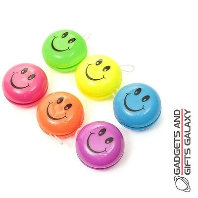 SMILER YOYOs PACK 6 ASS COLOURS party bag fillers toy novelty gifts childs