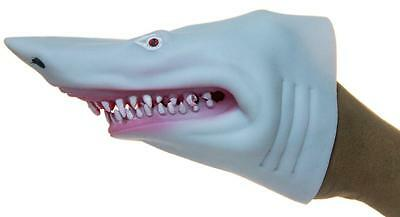 Soft Rubber Realistic 6 Inch Great White Shark Hand Puppet (White)