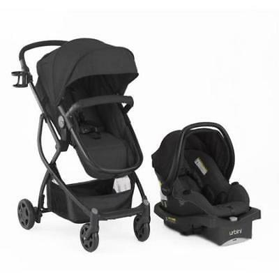 BABY 3in1 Stroller Car Seat Travel System Infant Carriage Buggy Bassinet Black