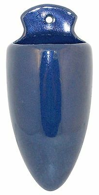 Roseville Pottery Rosecraft Colors Blue Wall Pocket 1225-10
