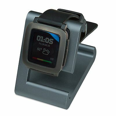 REFURBISHED TimeDock Pebble Time Dock Charger Charging GUNMETAL GREY-BLUE