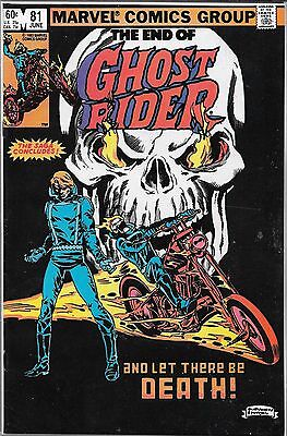 Ghost Rider #81 (Fn/vf) Last Issue, Bronze Age