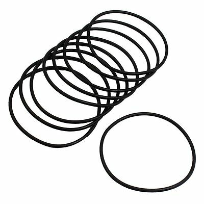 10 Pcs 51mm x 2mm Industrial Flexible Filter Rubber O Ring Seal Black