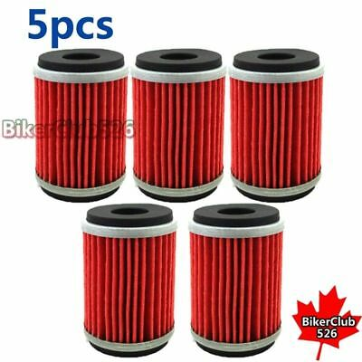5x Oil Filter For Yamaha XT250 YZ250F YZ450F WR450F 2009 2010 2011 2012 2013