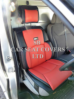 To Fit A Ford Transit Van, 2010, Seat Cover, Ys 06 Rossini Sport Red/Black