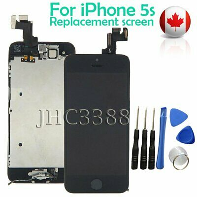 Full LCD Touch Screen + Camera + Button Replacement Assembly for iPhone 5S Black