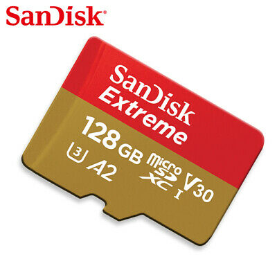 Sandisk Extreme A1 128GB micro SDXC Class10 UHS-I U3 Card 100MB/s with Tracking