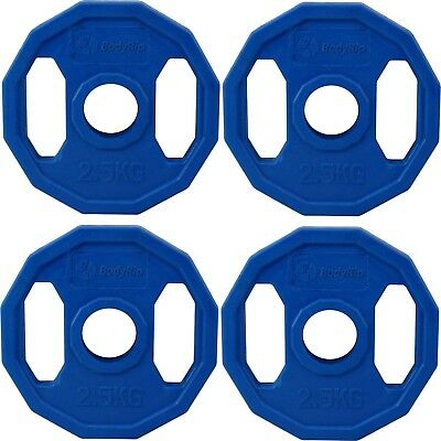 Bodyrip 4 x 2.5Kg Olympic Polygonal Colour Coded Weight Plates Lifting Workout