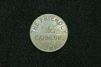 Vintage Trade Token, The Friendly Town, Carnegie, PA