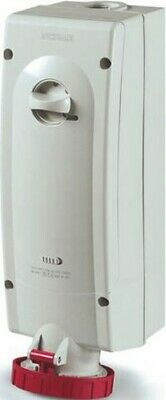 RS Pro Switchable IP67 Interlocked Socket 3PN+E, Earthing Position 6h, 63A, 415V