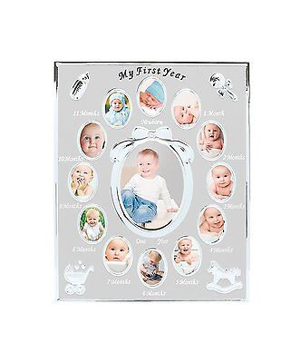 OpenBox Babys First Year Picture Frame, Silver