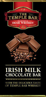 The Temple Bar Irish Milk Chocolate with the Taste of Temple Bar Whiskey 90g