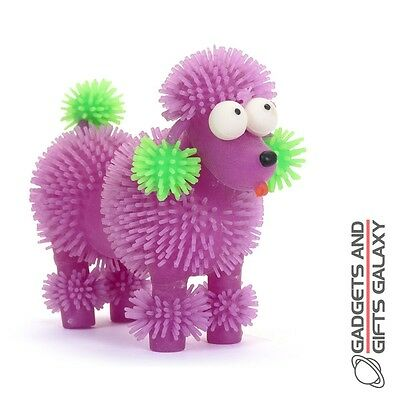 PUFFER POODLE STRETCHY SQUIDGY SENSORY STRESS TOY - party bag stocking filler