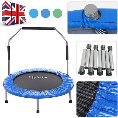 Mini Trampoline Super Tramp Jogger Fitness Exercise Rebounder/PT Bouncer Handle