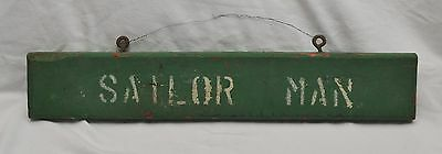 "Antique ""sailor Man"" Wood Hand Painted Boating Maritime Sign"