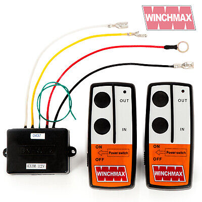 Wireless Winch Remote Control Twin Handset 12V 12 Volt Winchmax